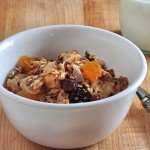 Bowl of Healthier Homade Granola on The Creekside Cook