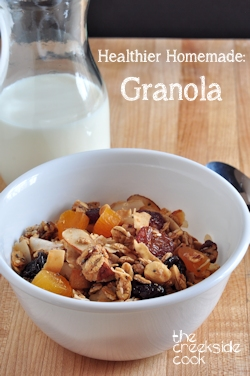 Healthier Homemade Granola on The Creekside Cook