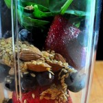 A protein packed, satisfying and nutritious breakfast - Berry Blast Almond Smoothie on The Creekside Cook