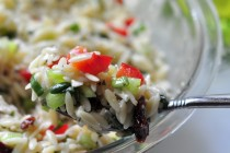 Spoonful of Mediterranean Orzo Salad on The Creekside Cook
