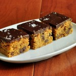 Peanut Butter Bars with Milk Chocolate Ganache