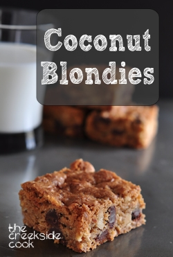 Coconut Blondies on The Creekside Cook
