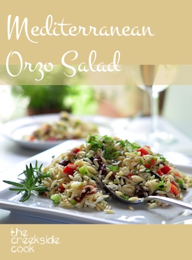 Mediterranean Orzo Salad on The Creekside Cook