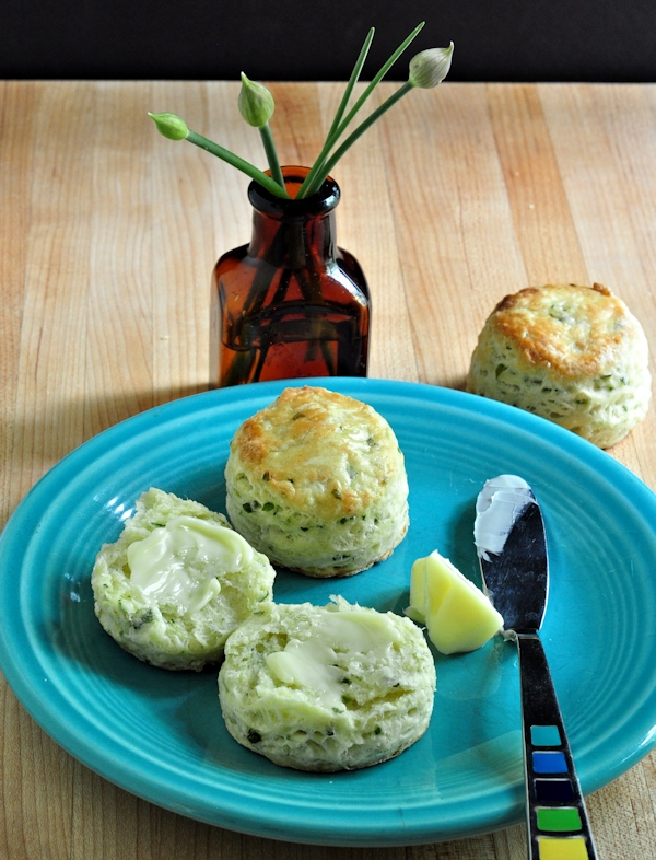Savory Chive Cream Cheese Scones on The Creekside Cook