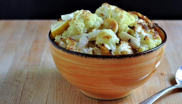 Lemon Garlic Roasted Cauliflower on The Creekside Cook