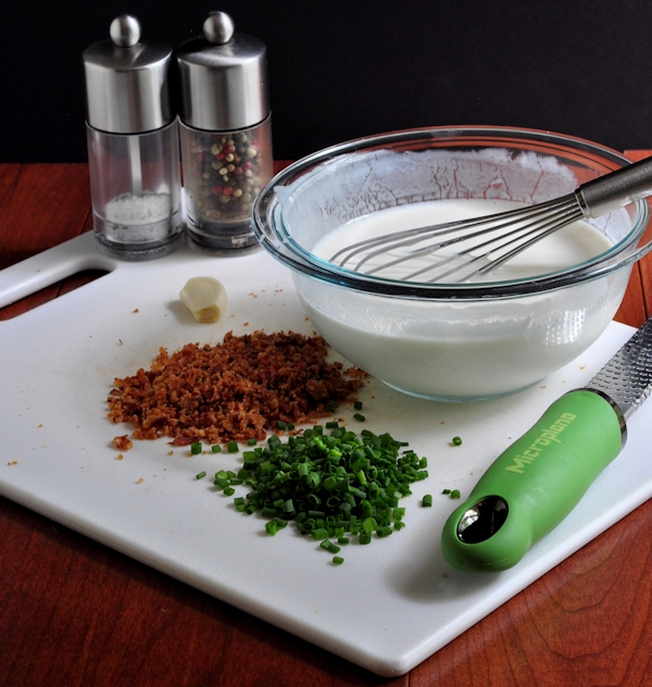 Chive Bacon Ranch Dressing ingredients on The Creekside Cook