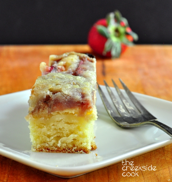 Strawberry Cheese Coffee Cake on The Creekside Cook