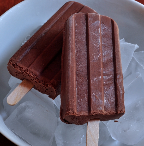 Coconut Milk Fudgesicles on ice from The Creekside Cook