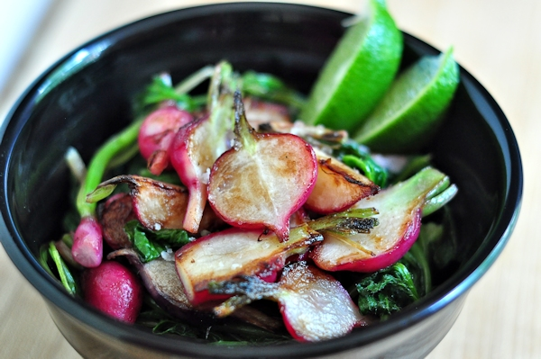 Sauteed Radishes with Sea Salt & Lime on The Creekside Cook