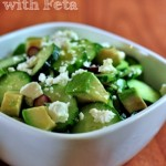 Cucumber Avocado Salad with Feta on The Creekside Cook