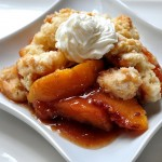 Recipe for fresh and delicious Peach Cobbler on The Creekside Cook