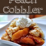 Peach Cobbler on The Creekside Cook