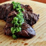 Steak with Garlic Scape Chimichurri Sauce on The Creekside Cook
