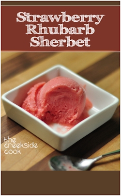 Strawberry Rhubarb Sherbet on The Creekside Cook