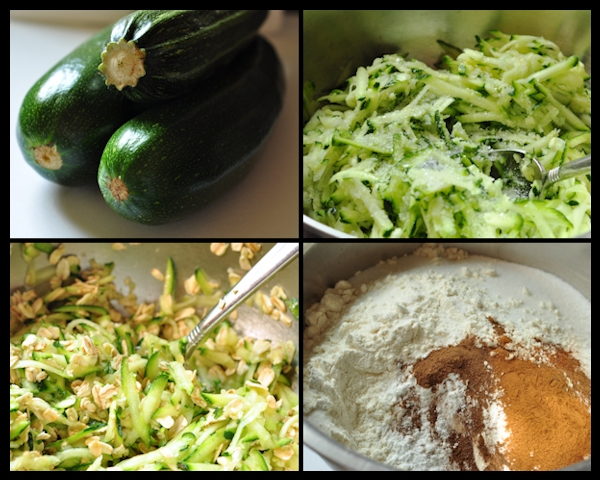 Ingredients for Zucchini Oat Bread on The Creekside Cook