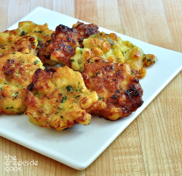 Fresh Corn Fritters on The Creekside Cook