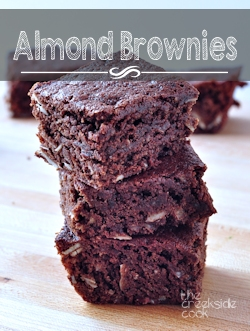 Almond Brownies on The Creekside Cook
