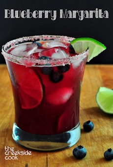 Blueberry Margarita on The Creekside Cook