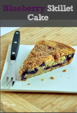 Blueberry Skillet Cake on The Creekside Cook