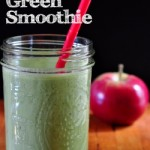 Apple Ginger Green Smoothie on The Creekside Cook