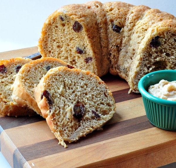 Pumpkin Raisin Yeast Bread on The Creekside Cook