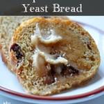 Pumpkin Raisin Yeast Bread on The Creekside Cook