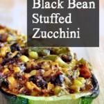 Quinoa & Black Bean Stuffed Zucchini on The Creekside Cook
