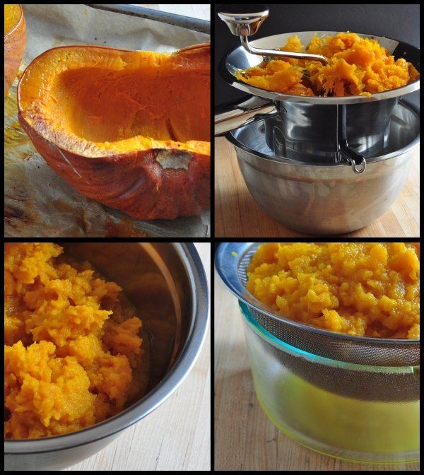 Pictures from the step by step: How to Cook a Fresh Pumpkin on The Creekside Cook