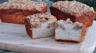 Find the Recipe for Banana Streusel Coffee Cake on The Creekside Cook