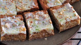 Find the recipe for Macadamia Lime Blondies on The Creekside Cook