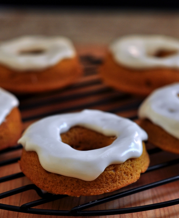 Baked Pumpkin Doughnuts with Cream Cheese Glaze Plus a KitchenAid Mixer Giveaway