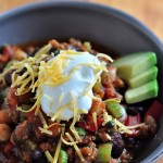 Smoky Turkey Chili on The Creekside Cook