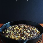 Skillet Pumpkin Fudge Brownies on The Creekside Cook