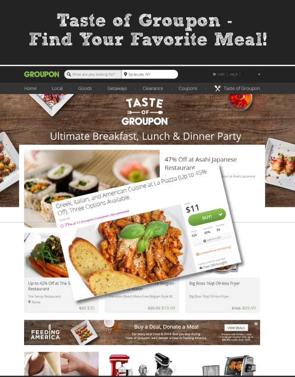 Taste Of Groupon Find Your Favorite Meal The Creekside Cook