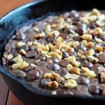 Recipe for Skillet Pumpkin Fudge Brownies on The Creekside Cook