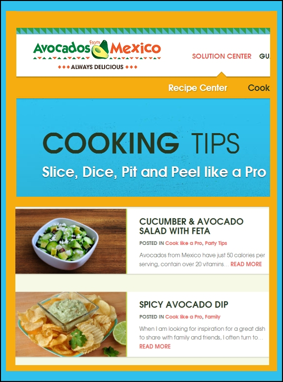 creekside Cook recipes on Avocados from Mexico blog