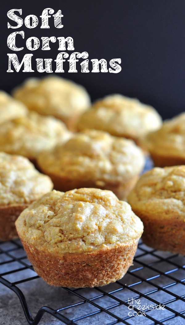 Soft Cornmeal Muffins on The Creekside Cook