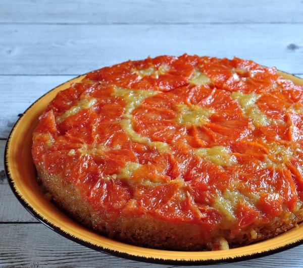 Slice of grapefruit cake 56