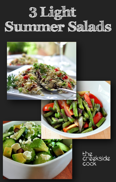 3 Light Summer Salads from The Creekside Cook