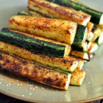 Plateof Spicy Zucchini Fries on The Creekside Cook