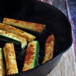 Pan of Spicy Zucchini Fries on The Creekside Cook