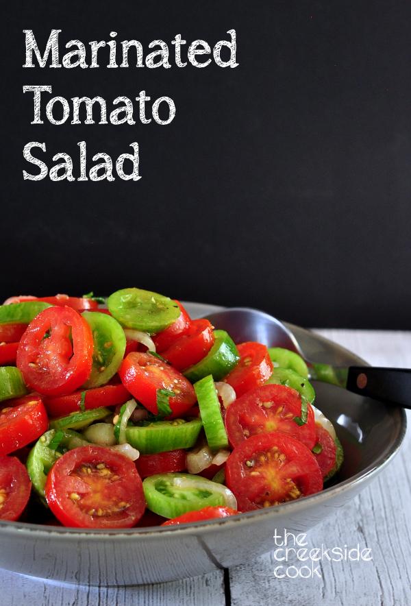 Marinated Tomato Salad on The Creekside Cook