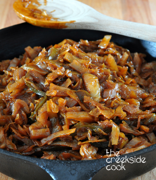 Delicious Sweet & Smokey Braised Cabbage on The Creekside Cook