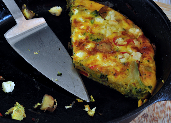 Recipe for Veggie Frittata on The Creekside Cook