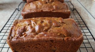 Find the Recipe for Pumpkin Bread with Walnuts and Raisins on The Creekside Cook