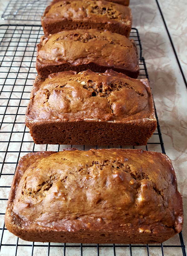 Delicious Pumpkin Bread with Walnuts and Raisins on The Creekside Cook