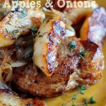 Pork Loin Chops with Apples and Onions on The Creekside Cook