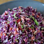 Recipe for Rainbow Veggie Slaw on The Creekside Cook