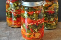 Refrigerator Pickled Hot Peppers