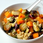 bowl of quinoa and fall vegetables
